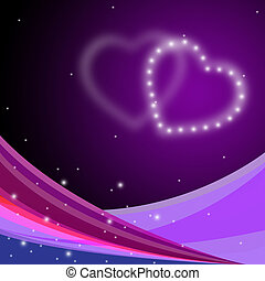 Background Heart Represents Valentines Day And Affection