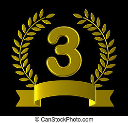 Third Three Means Happy Anniversary And 3 - Anniversary...