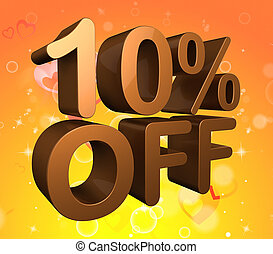Ten Percent Off Indicates Savings Closeout And Clearance -...