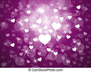 Heart Background Shows Valentines Day And Abstract