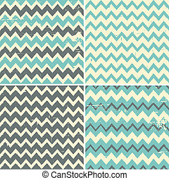 Seamless Chevron Backgrounds Collec - A set of four seamless...