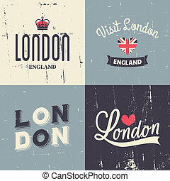 London Vintage Cards Collection - A set of London-themed...
