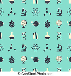 Seamless Science Background - Seamless repeat pattern with...