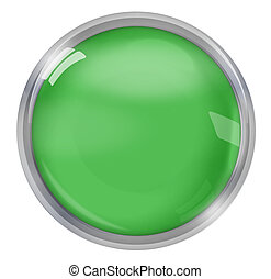 greeen round icon button design - greeen round