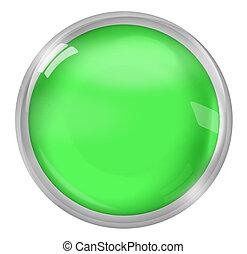 greeen round icon button design - greeen round
