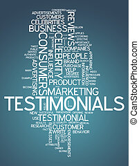 Word Cloud Testimonials - Word Cloud with Testimonials...