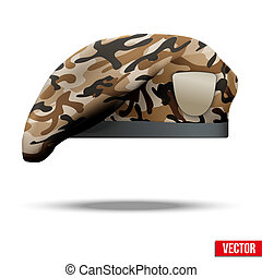 Military Camo Beret Special Forces - Military Beret with...