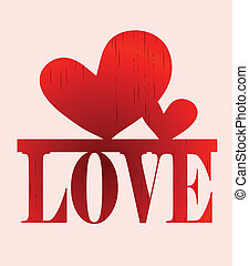love - creative writing letters word love with a heart print