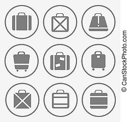 bags - A set of vector images of traffic trunks and bags