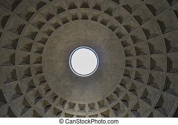 Pantheon Rome - ROME, ITALY - JUNE 24, 2014: Pantheon temple...