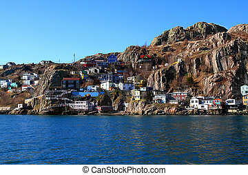 East end of St. John?s where the town reached Signal Hill