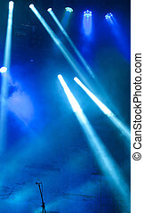 Microphone on stage - Microphone on empty stage