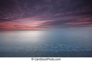 Chesil Cove at sunset - Beautiful Dorset coast line at...
