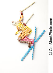 Healthy skiing - Doping pills and drugs in the shape of a...