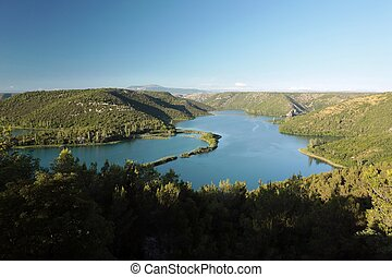 Krka National Park in Croatia - River Krka in the Krka...
