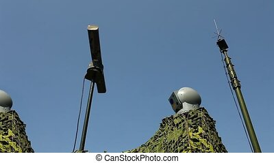 electronic warfare Military radar r - elint Locator rotates...