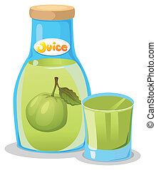 A bottle of guava juice - Illustration of a bottle of guava...