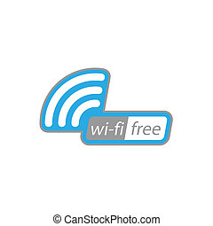 Free wi-fi icon. Vector