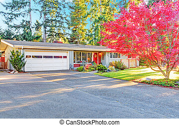 House exterior with garage and driveway view - One story...