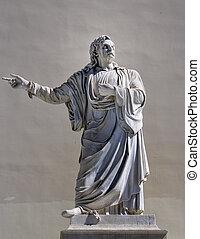 griego, filósofo, estatua