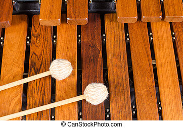 Marimba,  mallets