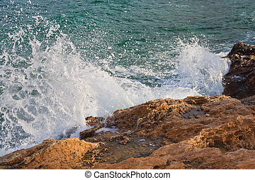 Crushing Waves - Waves crushing into the rocks