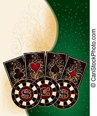 Poker banner, vector illustration