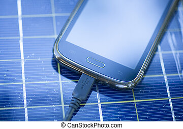 Mobile phone on solar charger - Solar Mobile Phone Chargers...
