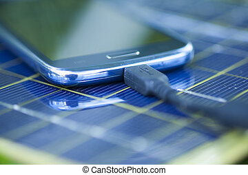 Charging cell phone with solar charger - Solar Mobile Phone...