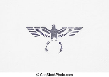 Black Eagle - Animal black eagle drawn on stop, symbol and