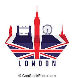 London design over white background, vector illustration