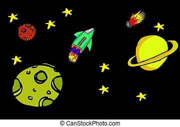 doodle outer space