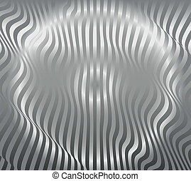 Aluminum abstract silver stripe