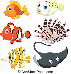 Tropical fish cartoon - Vector illustration of Tropical fish...