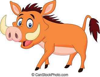 Cartoon warthog  - Vector illustration of Cartoon warthog