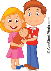 Cartoon Young adult couple tenderly - Vector illustration of...