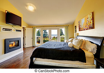 Luxury master bedroom inteiror - Luxury master bedroom with...