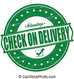 Check on delivery - Stamp with text check on delivery...