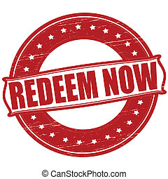 Redeem now - Stamp with text redeem now inside, vector...