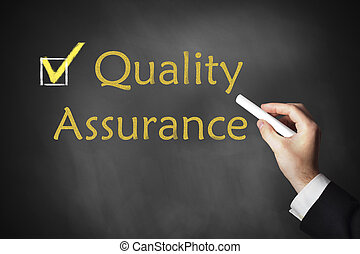 hand writing quality assurance on chalkboard - hand writing...