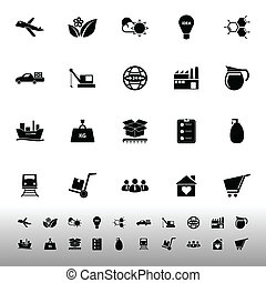 Supply chain and logistic icons on white background, stock...