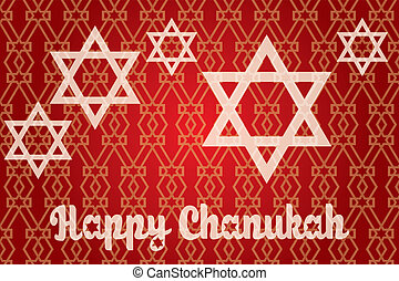 Happy Hanukkah - Chanukah card - beautiful detailed vector...
