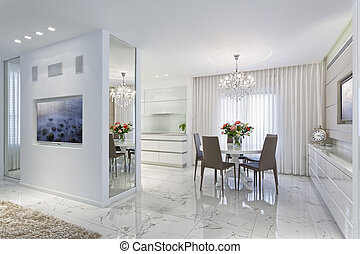 Dining Room  - Modern Luxury Dining Room - Home Styling