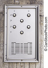 Intercom door silver - Door bell with silver buttons, input