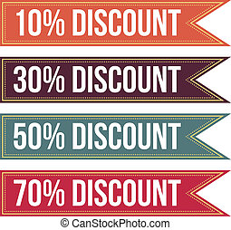 Colorful Discount Tag Banner