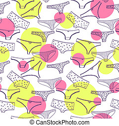 Seamless pattern wirh underclothes violet panties - Seamless...