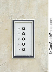 Door bell with silver buttons, input