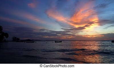 Nightfall. - Wongamat Beach Nightfall. North of Pattaya...