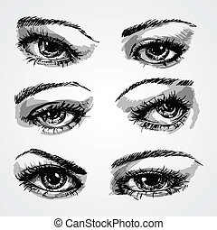 eyes collection - Hand-drawn eyes collection