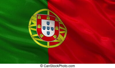 Flag of Portugal seamless loop - Flag of Portugal gently...